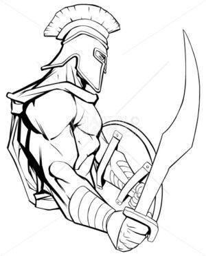 Spartan Warrior Mascot - Martin Malchev