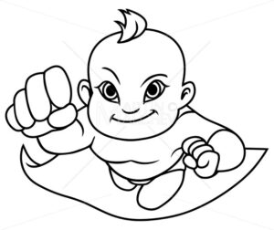 Super Baby Asian Line Art - Martin Malchev