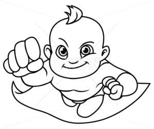 Super Baby Line Art - Martin Malchev