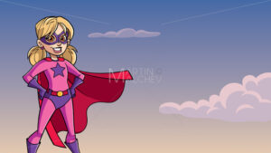 Super Girl Sky Background - Martin Malchev