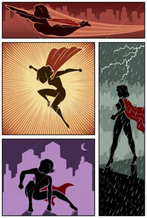 Super Heroine Banners 3 - Martin Malchev
