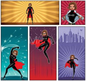 Super Heroine Banners 5 - Martin Malchev