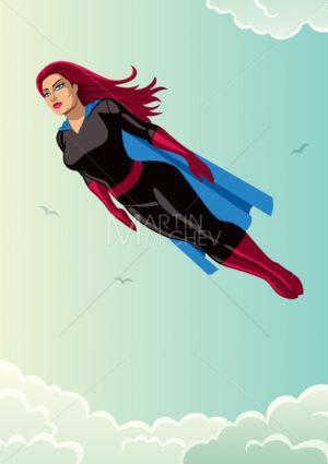 Super Heroine Flying Sky - Martin Malchev