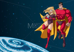 Super Mom Dad and Baby in Space - Martin Malchev