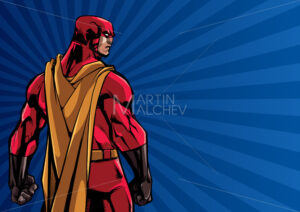 Superhero Back Ray Light Background - Martin Malchev