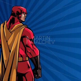 Superhero Back Ray Light Background - Martin Malchev