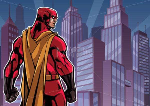Superhero Back in City - Martin Malchev