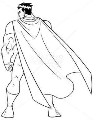 Superhero Battle Mode Back Line Art - Martin Malchev
