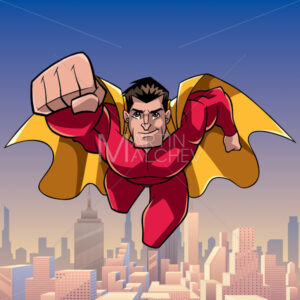 Superhero Coming at You in City - Martin Malchev