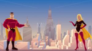Superhero Couple Presenting - Martin Malchev