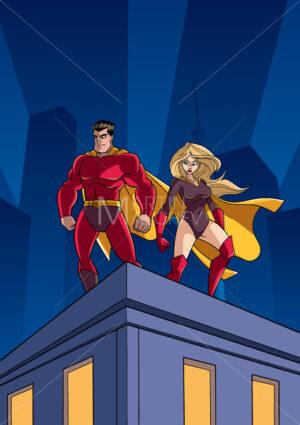 Superhero Couple Roof Watch - Martin Malchev