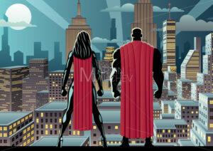 Superhero Couple Watch Night - Martin Malchev