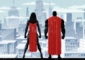 Superhero Couple Watch Winter - Martin Malchev