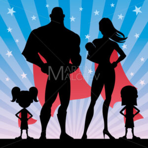 Superhero Family with 2 Girls and Baby - Martin Malchev