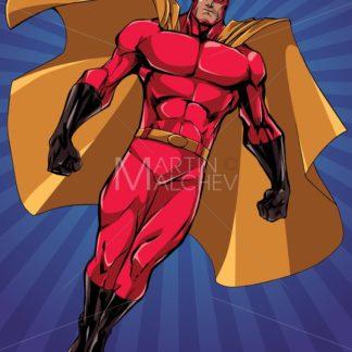 Superhero Flying Ray Light Vertical - Martin Malchev
