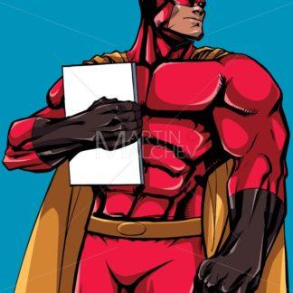 Superhero Holding Book - Martin Malchev