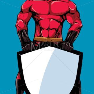 Superhero Holding Shield 2 - Martin Malchev