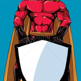 Superhero Holding Shield No Mask - Martin Malchev