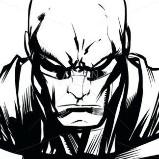 Superhero Portrait Line Art - Martin Malchev