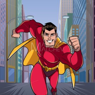 Superhero Running in City - Martin Malchev