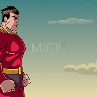 Superhero Side Profile Sky Background - Martin Malchev