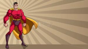 Superhero Standing Tall Ray Light Background - Martin Malchev