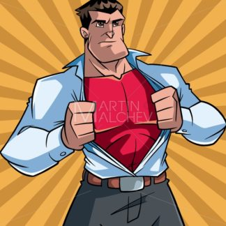 Superhero Under Cover Casual and Ray Light Background - Martin Malchev
