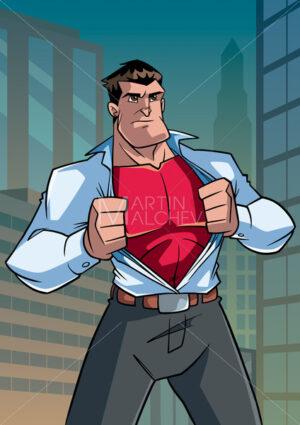 Superhero Under Cover Casual in City - Martin Malchev