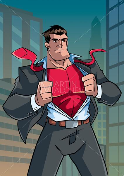 Superhero Under Cover in City - Martin Malchev