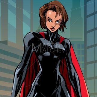 Superheroine Battle Mode City Vertical - Martin Malchev