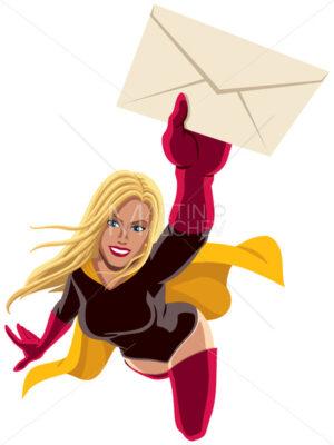 Superheroine Flying Envelope - Martin Malchev