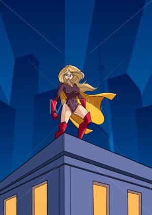 Superheroine Roof Watch - Martin Malchev