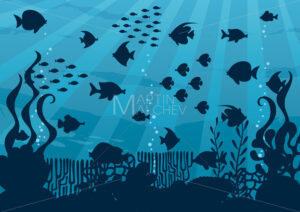 Undersea Cartoon Landscape - Martin Malchev