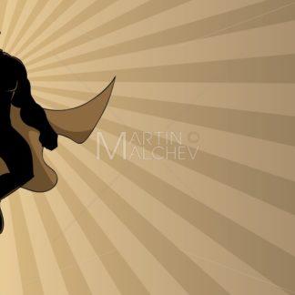 Superhero Flying Ray Light Silhouette 2 - Martin Malchev