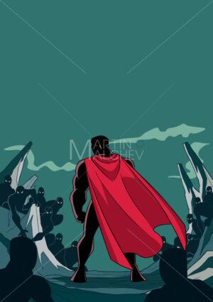 Superhero Ready for Battle Silhouette - Martin Malchev