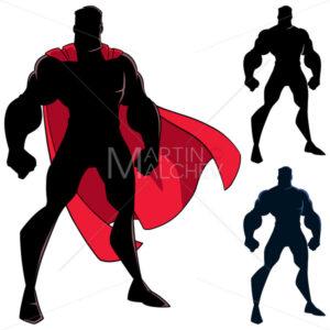Superhero Standing Tall Silhouette - Martin Malchev