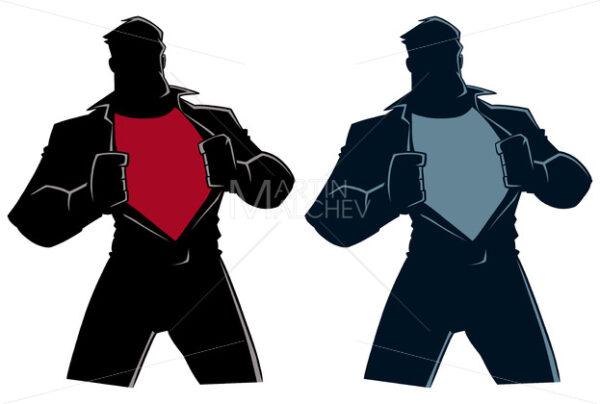 Superhero Under Cover Casual Silhouette - Martin Malchev