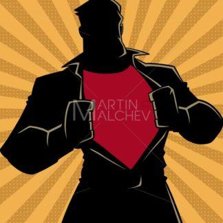 Superhero under Cover Casual Ray Light Silhouette - Martin Malchev