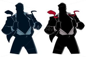 Superhero under Cover Suit Silhouette - Martin Malchev