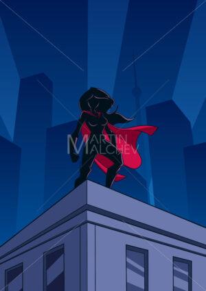 Superheroine Roof Watch Silhouette - Martin Malchev