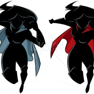 Superheroine Running Silhouette - Martin Malchev