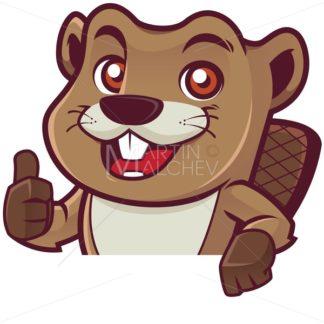 Beaver Behind Sign - Martin Malchev