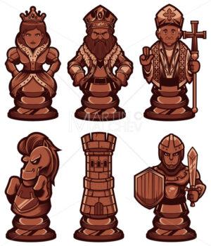 Chess Pieces Set Black - Martin Malchev