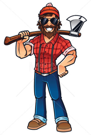 Lumberjack on White - Martin Malchev