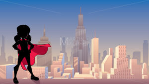 Super Girl City Silhouette - Martin Malchev