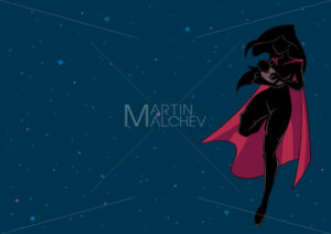 Super Mom with Baby Space Silhouette - Martin Malchev