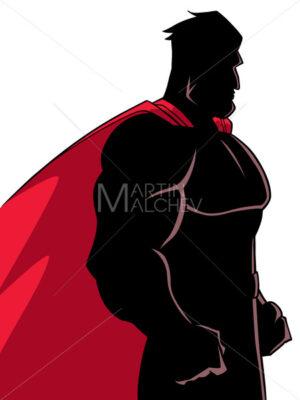 Superhero Side Profile Silhouette - Martin Malchev