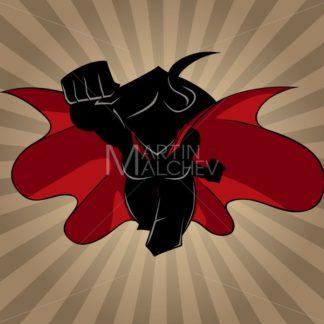 Superheroine Coming Ray Light Silhouette - Martin Malchev