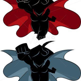 Superheroine Coming Silhouette - Martin Malchev