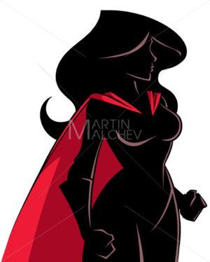 Superheroine Side Profile Silhouette - Martin Malchev